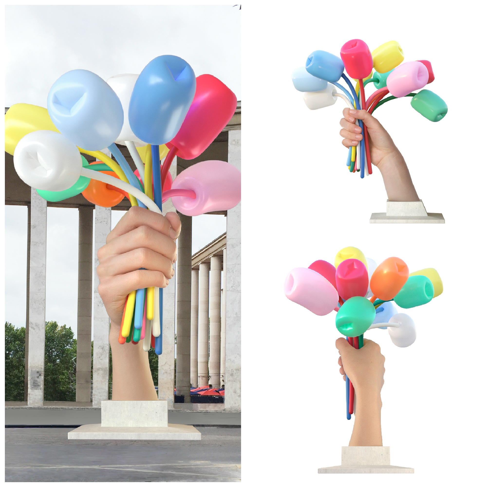 Jeff koons offers sculpture to paris in memory of 2015 attacks for Bouquet internet