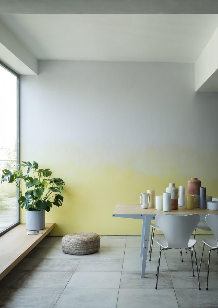 Blank Canvas and Lemon Squash paint, Crown Paints