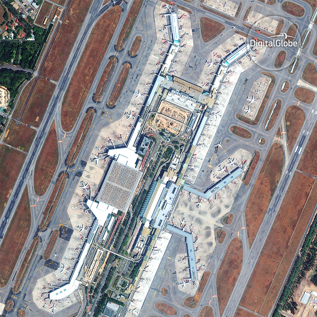 Changi Airport in Singapore © DigitalGlobe
