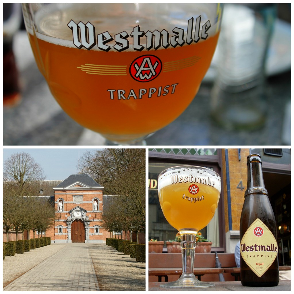 Westmalle tripel and the entrance to Westmalle Abbey | © Michael Costa/Flickr / © Abbi Skipp/Flickr / © Tavernsenses/Wikimedia Commons