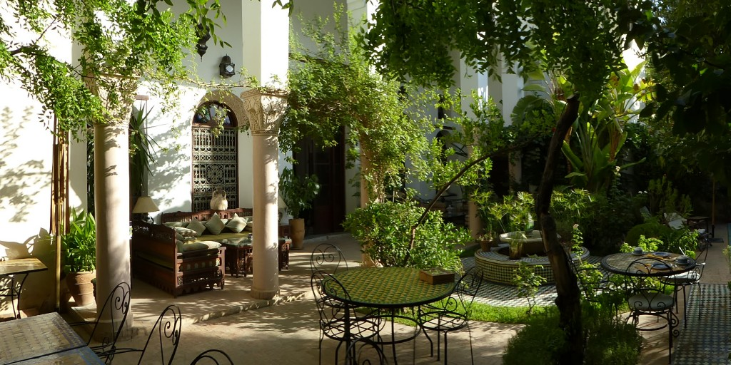 Arabo-Andalusian patio | © Riad Mabrouka