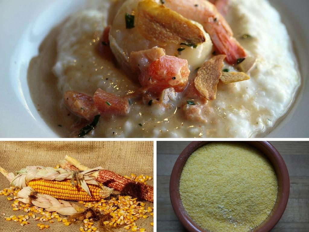 sg_1300_shrimp_grits   © sandy waddle/Flickr   Corn/Pixabay   Roasted rack of lamb - Cornmeal   © Rebecca Siegel/Flickr