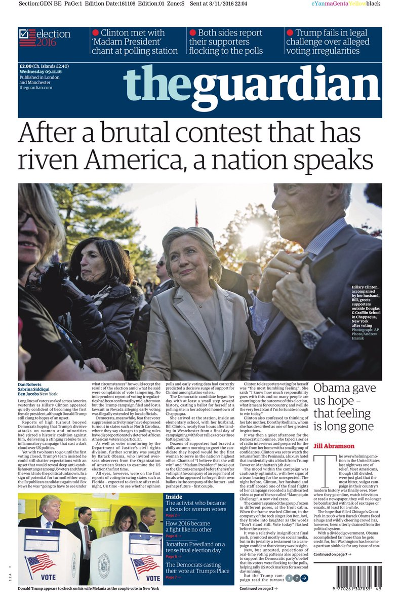 The World Reacts To Donald Trumps Shock Win - Us election 2016 map the guardian