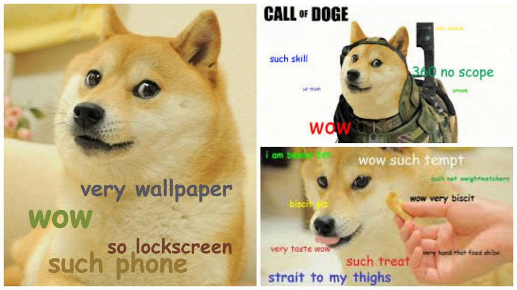 "Source: dilettantiquity/Flickr / ""Call of Doge"" - pop culture spoofs featuring doge are common 