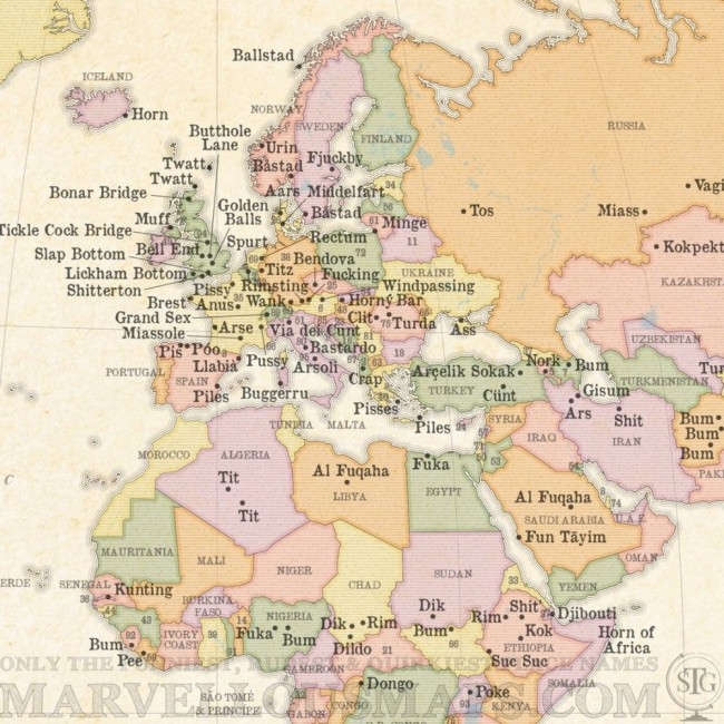 This rude map of the world will make you laugh hard gumiabroncs Gallery