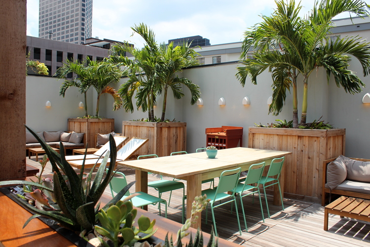 The Catahoula Hotel Rooftop Terrace, courtesy of The Catahoula Hotel.