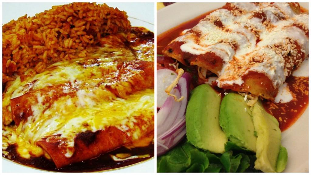 Tex-Mex enchiladas | © TheLunchBelle/Flickr / Mexican enchiladas | © Nicholas Lundgaard/Flickr