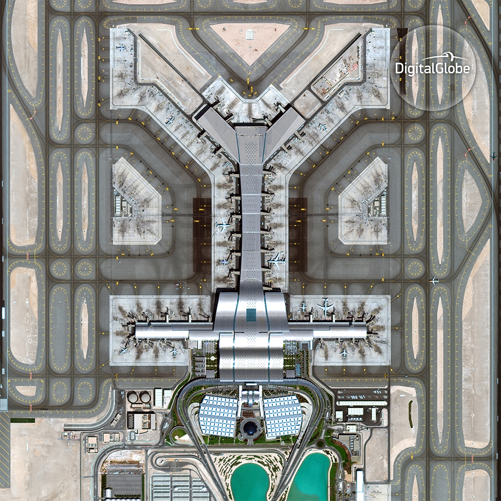 Hamad International Airport ©DigitalGlobe