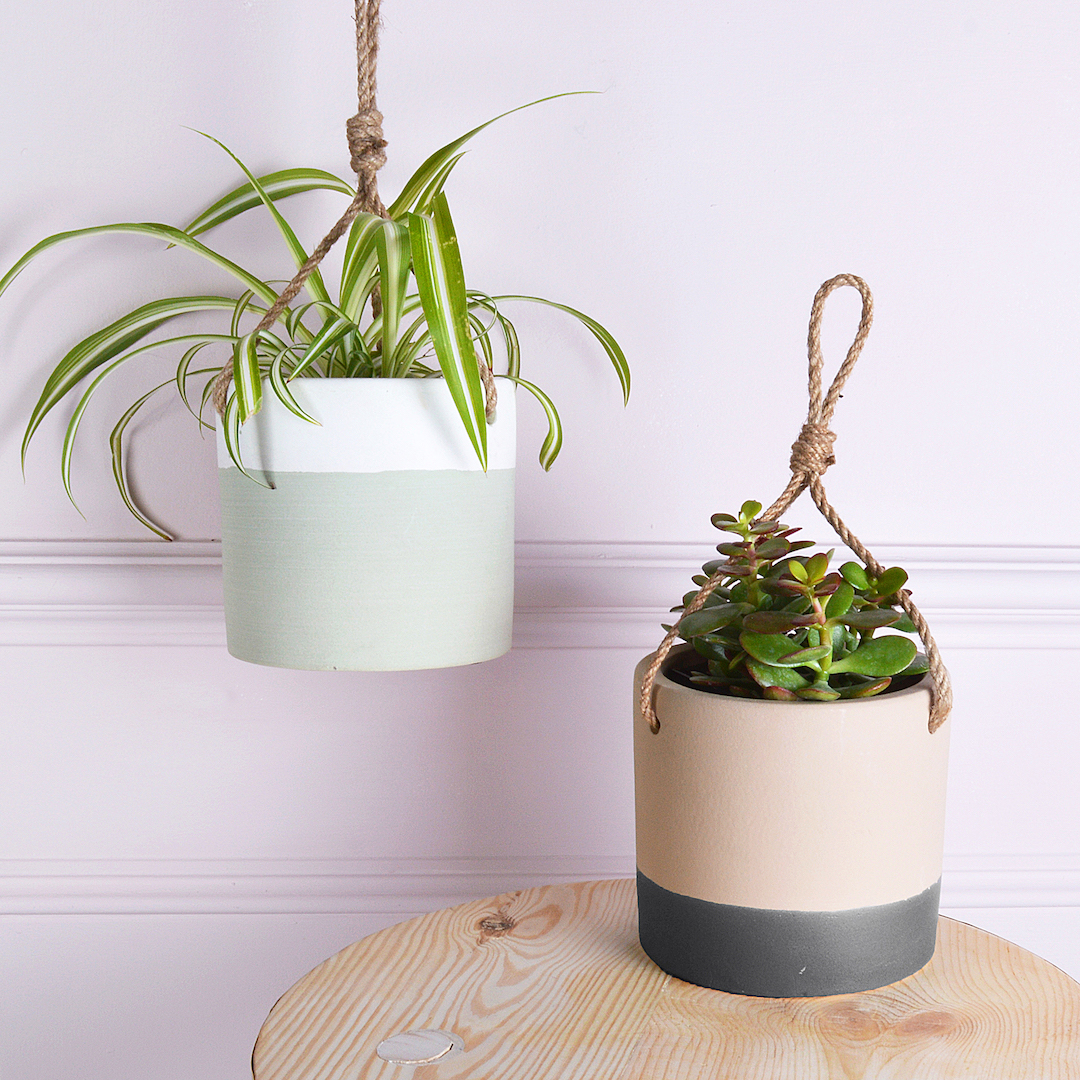 Hanging ceramic plant pots from Mia Fleur , £14.95 each