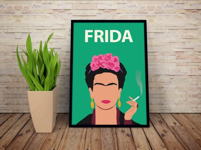 Frida Kahlo poster print, via Etsy