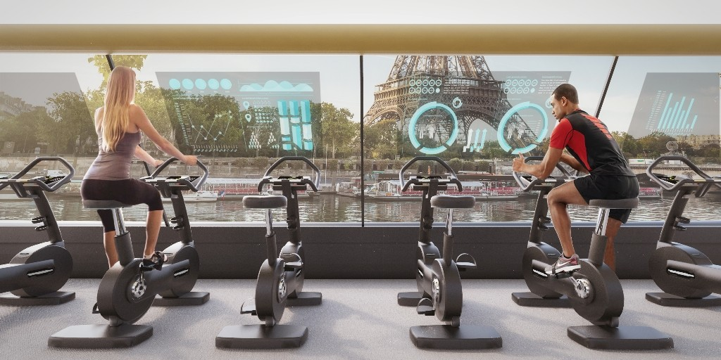 Inside the Paris Navigating Gym │© Carlo Ratti Associati