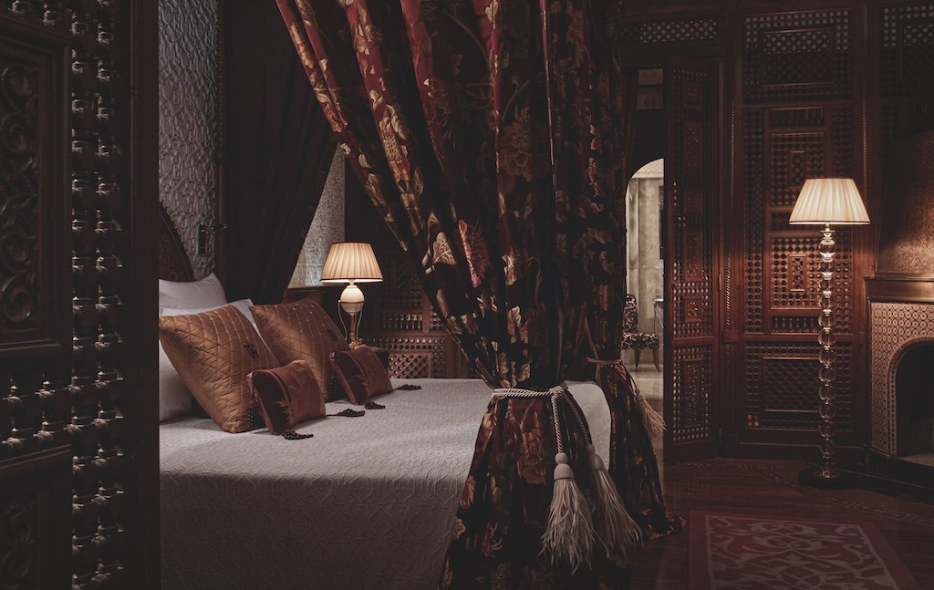 Master bedroom in the prestige riad at the Royal Mansour | © Royal Mansour