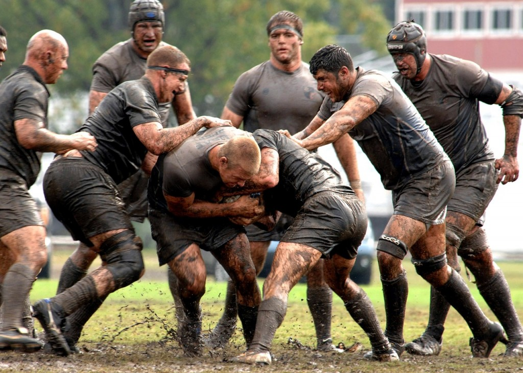 Muddy rugby match │© skeeze