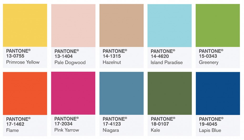 Pantone's top 10 colours for S/S 2017