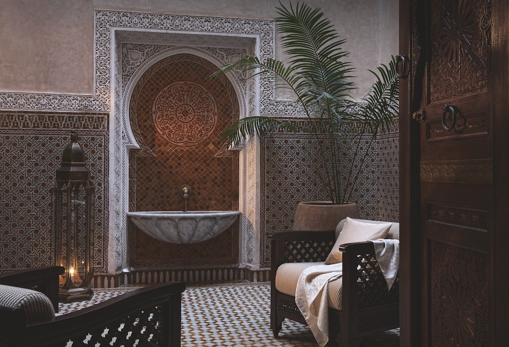 Premier Riad patio at the Royal Mansour | © Royal Mansour