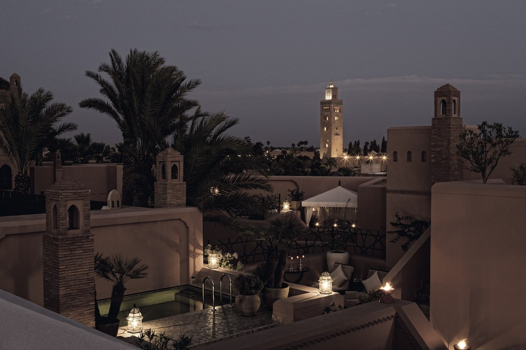 Rooftop views from the prestige riad at the Royal Mansour | © Royal Mansour
