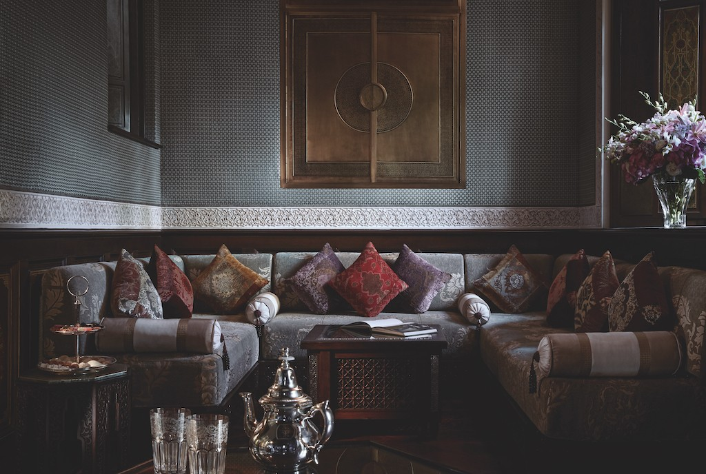 Living room in the privilege riad at the Royal Mansour | © Royal Mansour