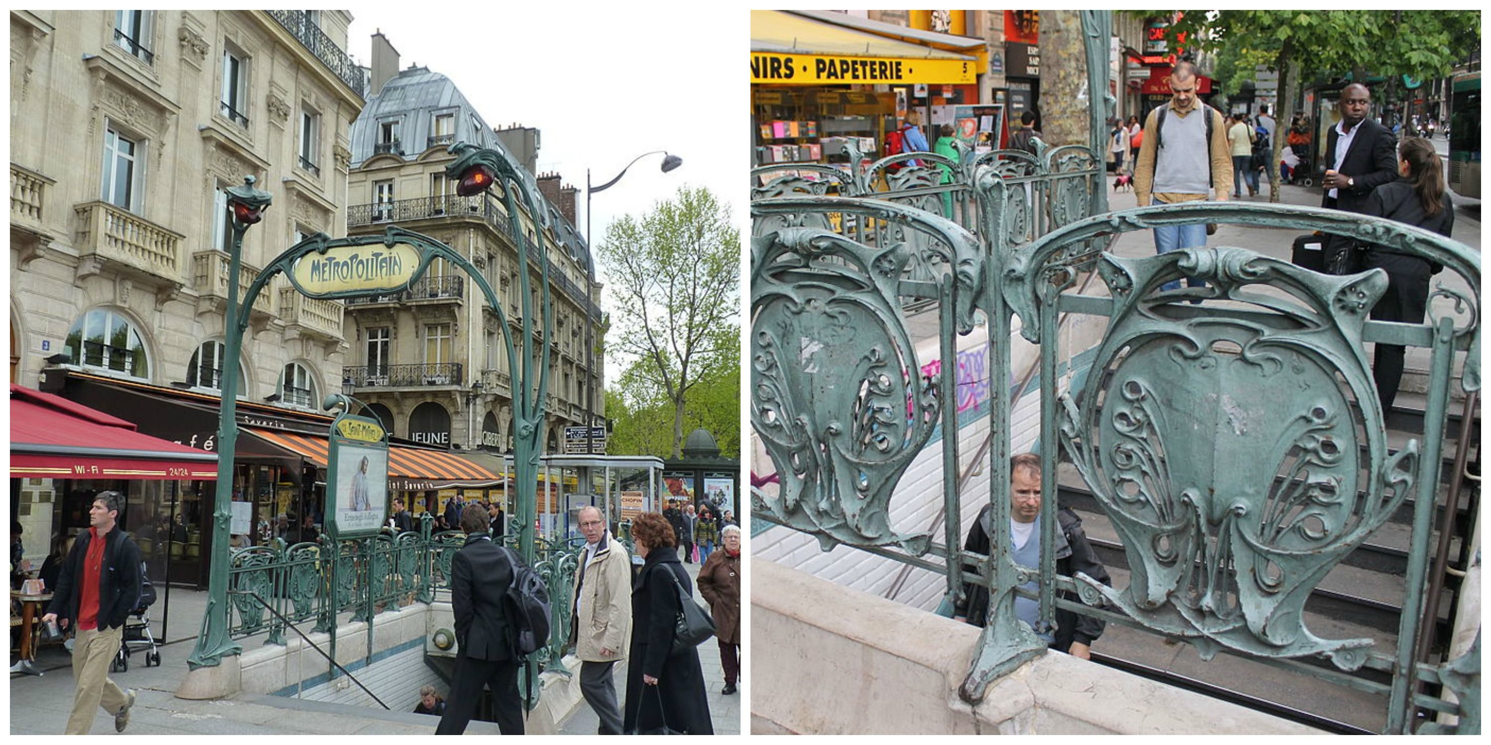 10 of the most beautiful art nouveau metro stations in paris. Black Bedroom Furniture Sets. Home Design Ideas