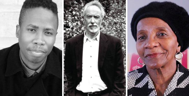 From L to R: Masande Ntshanga; J.M Coetzee; Sindiwe Magona