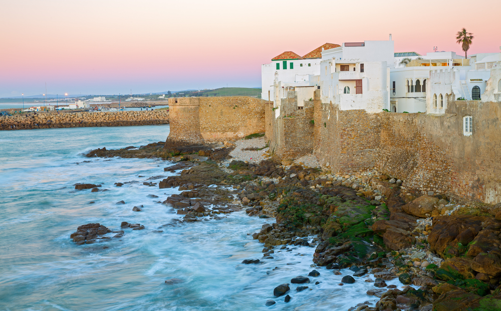 Sunset in Asilah and atlantic ocean in Morocco, Africa © FCG / Shutterstock