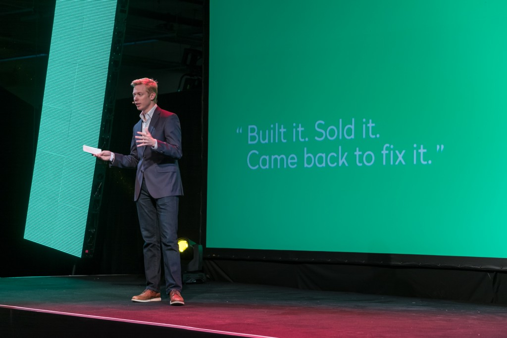 Reddit CEO Steve Huffman talking at TNW NYC | Courtesy TNW.