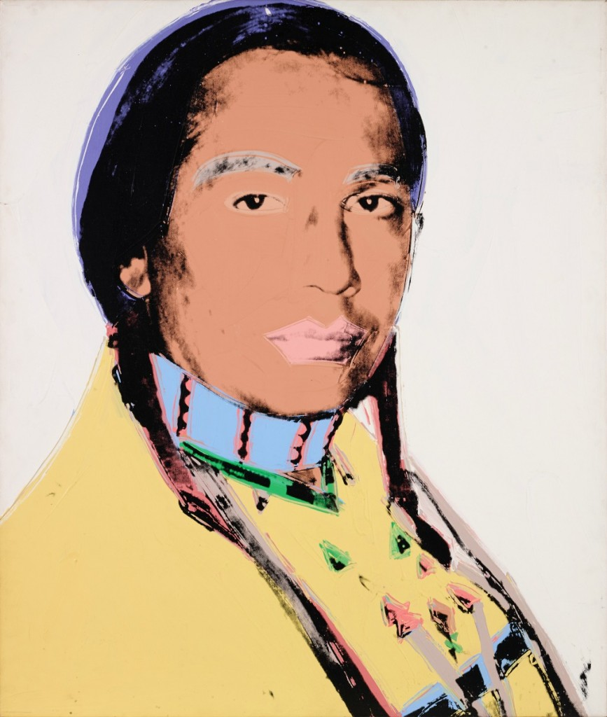 Andy Warhol: The American Indian, 1976 | Acrylic and silkscreen ink on canvas, 127 x 106/7 cm | © Tehran Museum of Contemporary Art