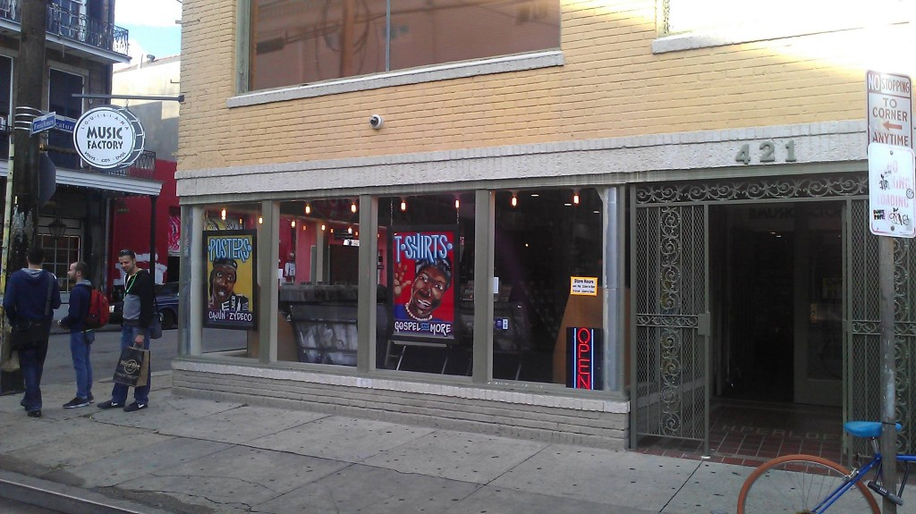 Louisiana Music Factory New Orleans storefront, courtesy of Louisiana Music Factory New Orleans.