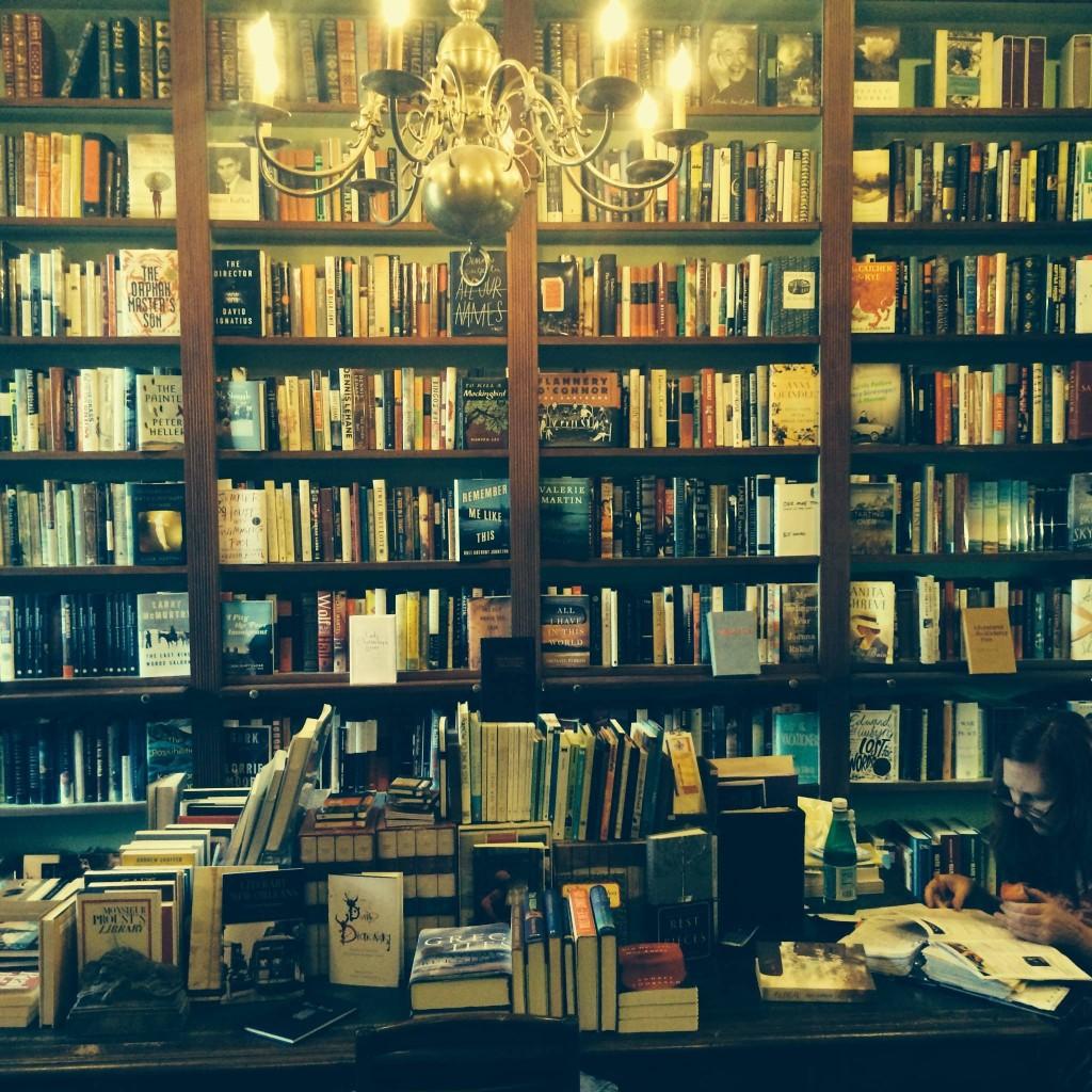 Books at Faulkner House Books, courtesy of Faulkner House Books.