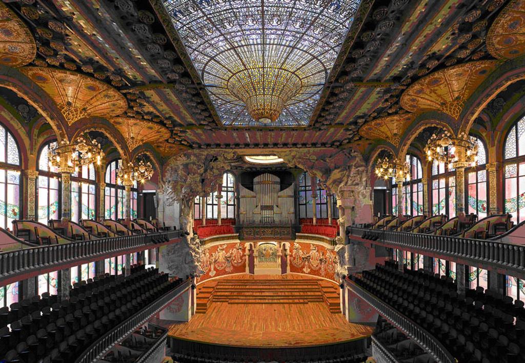 The Palau de la Música Catalana | © Wikimapa
