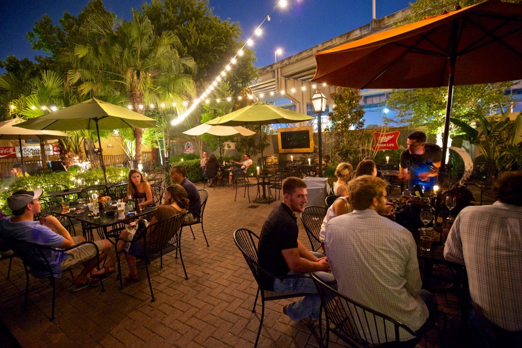 The Rusty Nail outdoor patio, courtesy of The Rusty Nail.