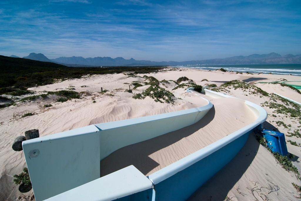 Sand-filled water slide, Macassar Beach Pavilion, Cape Town © Adrian Bischoff/Flickr