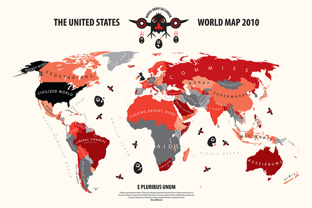 Here S The Entire World According To The United States