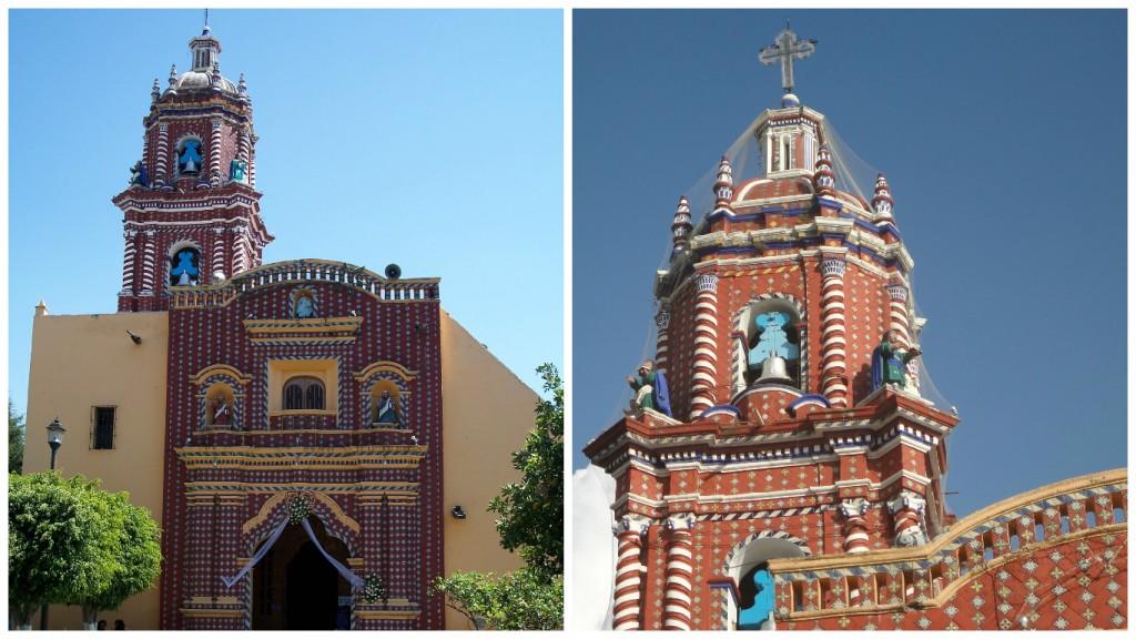 Iglesia de Santa María Tonantzintla, Cholula | © Alejcasvi78/WikiCommons / Detail of the church | © Danielllerandi/WikiCommons