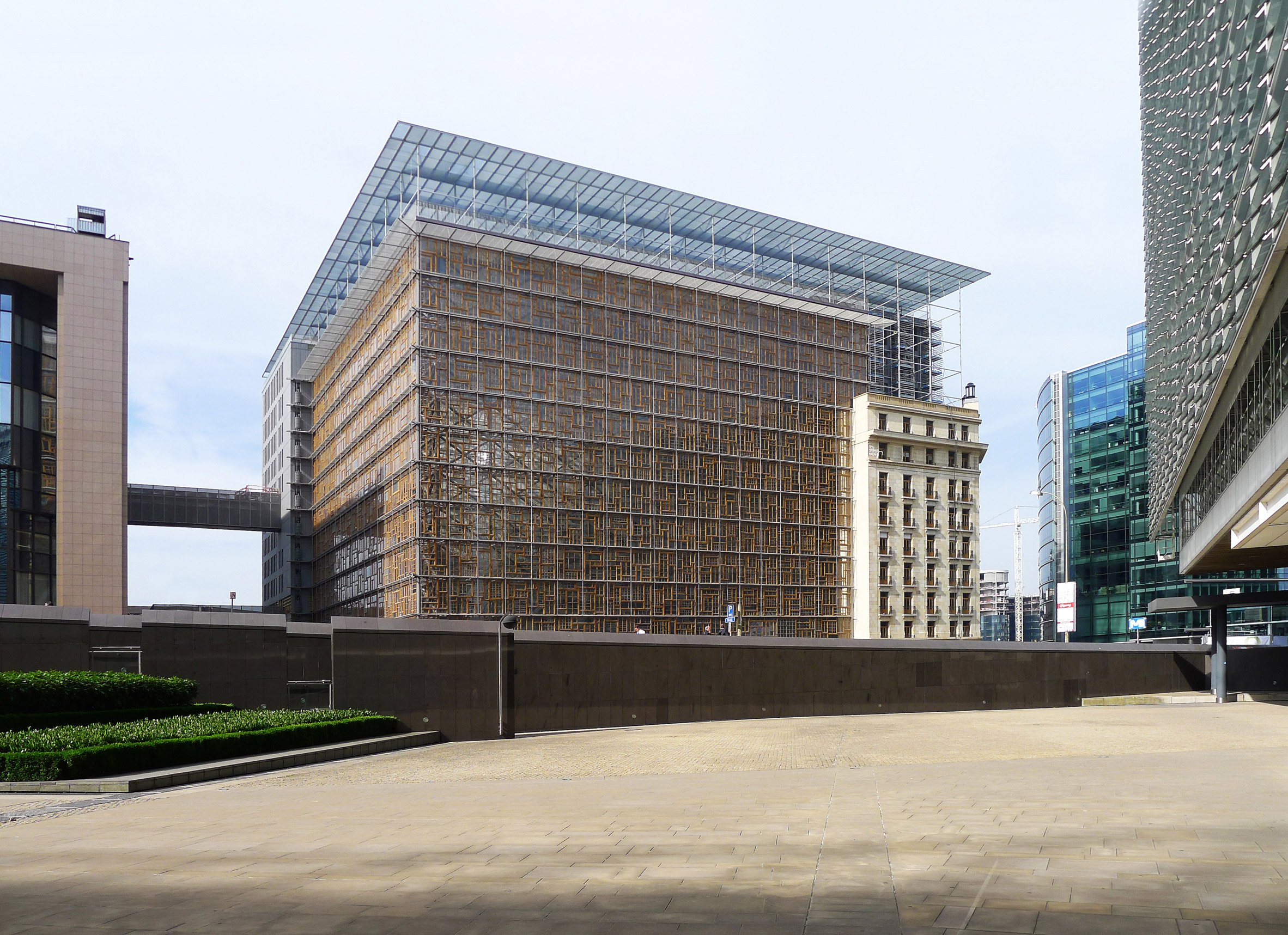 This unusual new eu building has a beacon of light at its for Architects council of europe