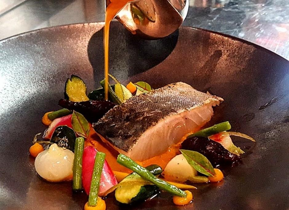 Fish dish at La Truffière │ Courtesy of La Truffière