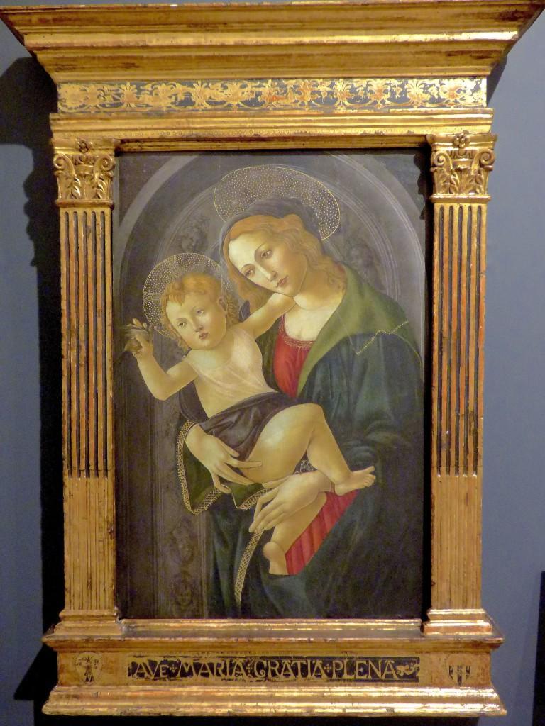 La Virgen y el Niño en un nicho, Sandro Botticelli | © Luisalvaz/WikiCommons