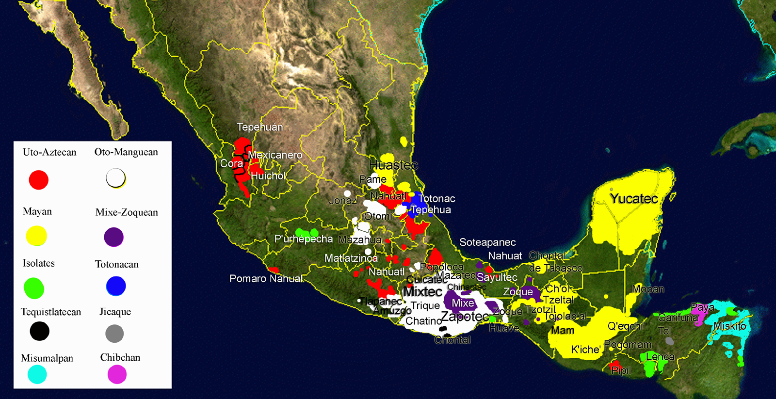 A Guide To Mexicos Indigenous Languages - Native language world map