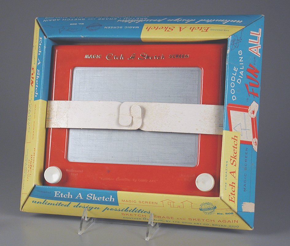 Etch A Sketch, Ohio Art Co, 1960. The Strong National Museum of Play | Image courtesy of The Strong, Rochester, New York