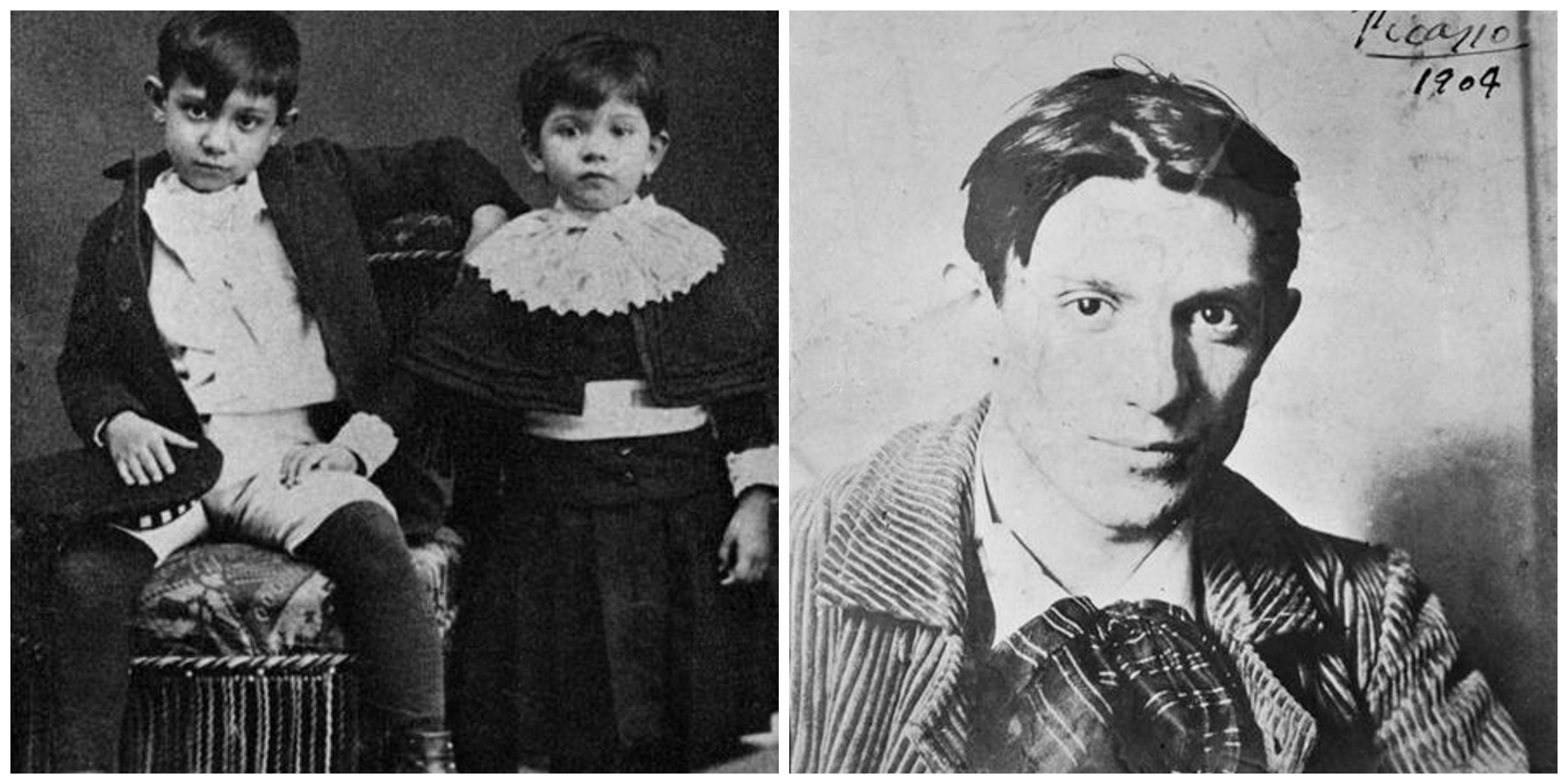 Picasso with his sister CC0 Public Domain | Picasso in 1904 © RMN-Grand Palais