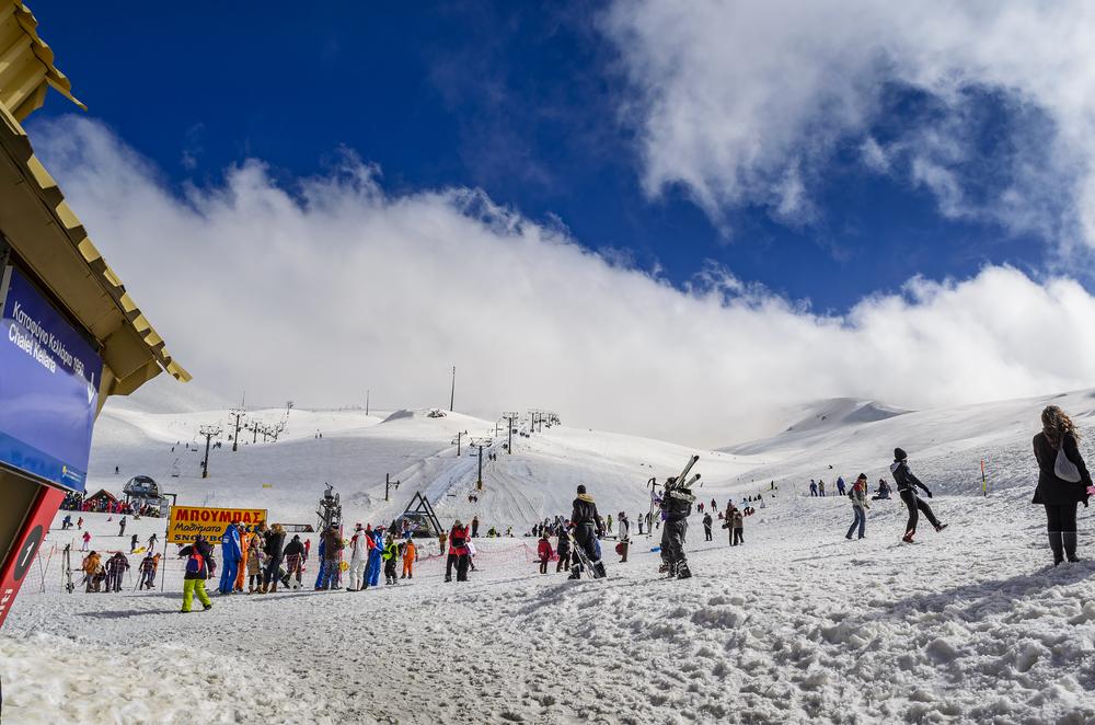 Ski centre at Parnassos or (Parnassus) Mountain near Arachova village. Boeotia - Greece © Kotsovolos Panagiotis / Shutterstock