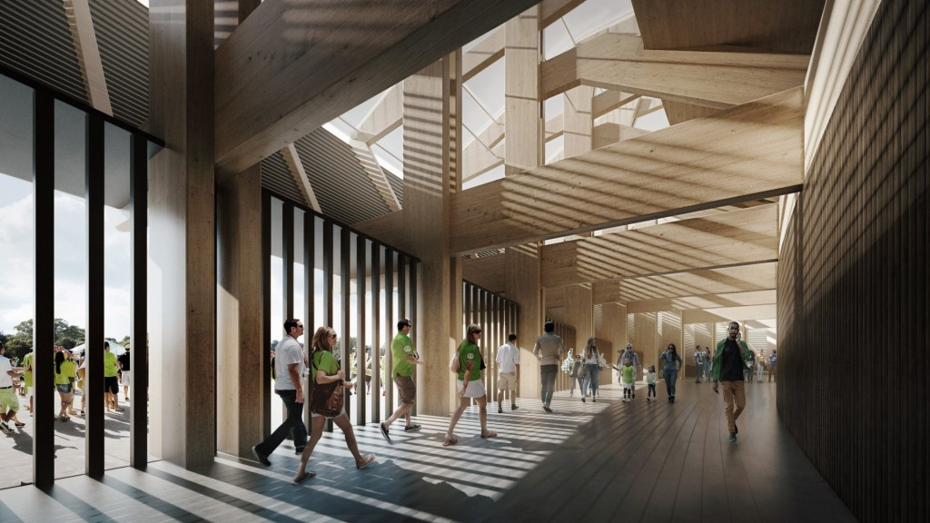 Proposed stadium interior | © Zaha Hadid Architects