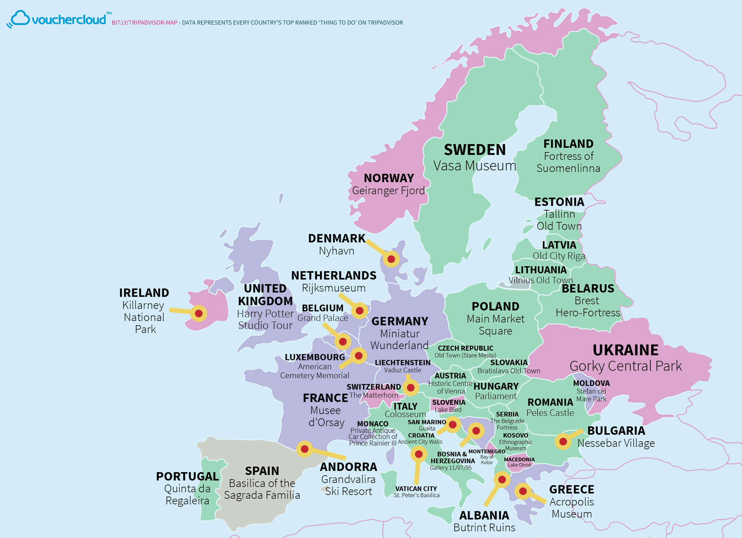 This Really Cool Map Shows The World\'s Top Tourist Destinations
