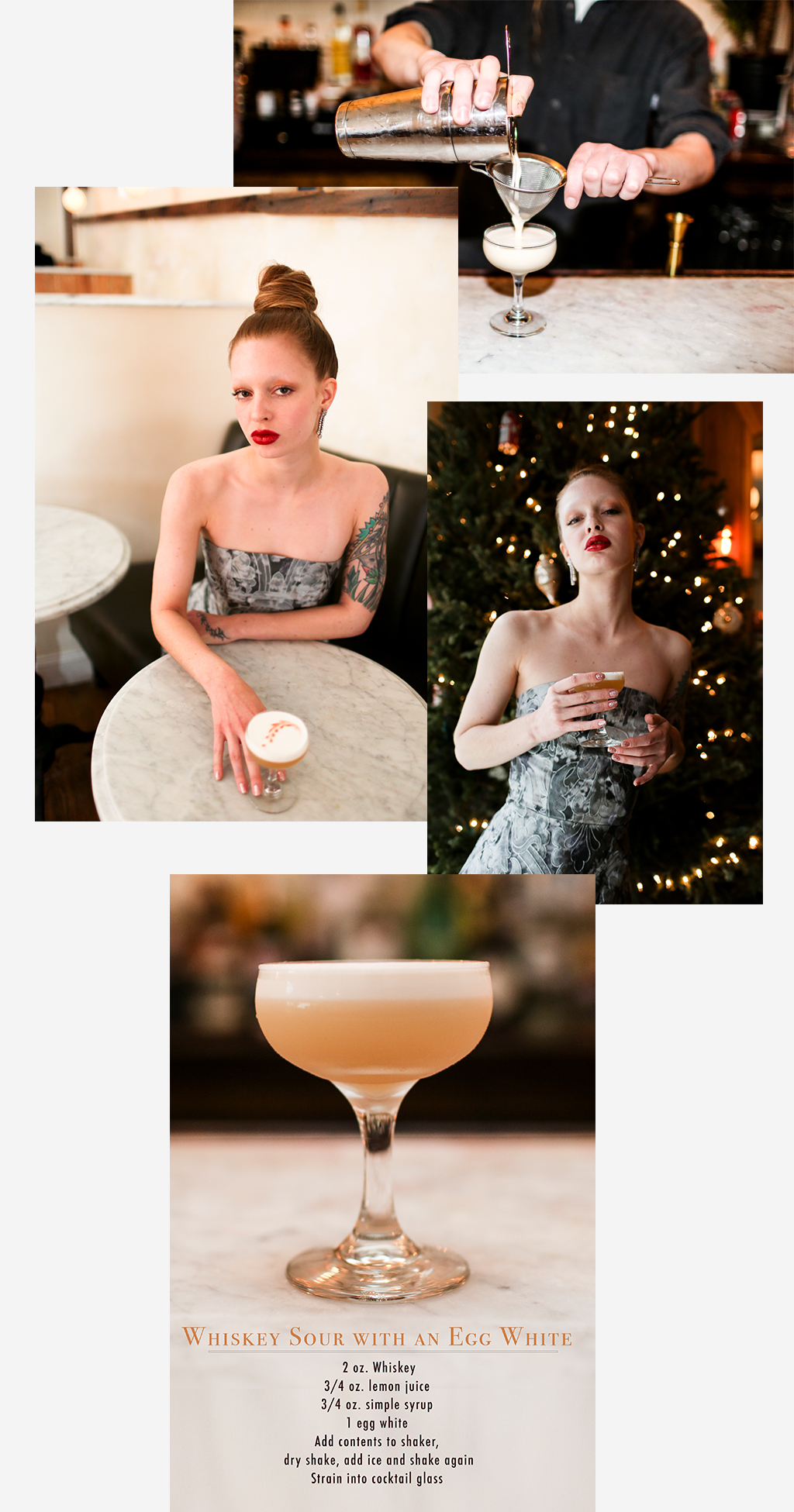 Dresses inspired by your favorite cocktail whiskey sour with egg white ombrellifo Images