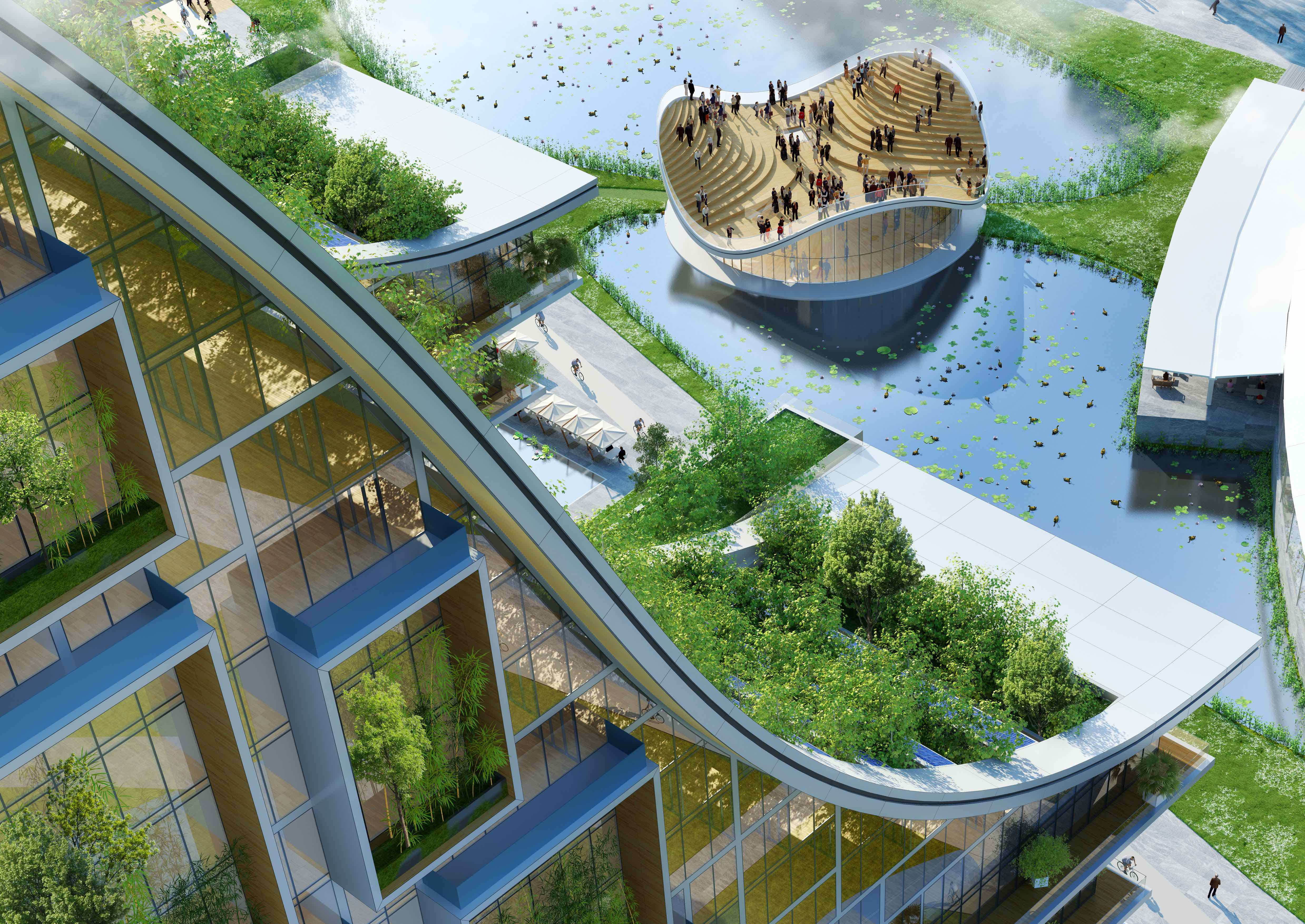 Lilypad from the Sky Forest © Vincent Callebaut