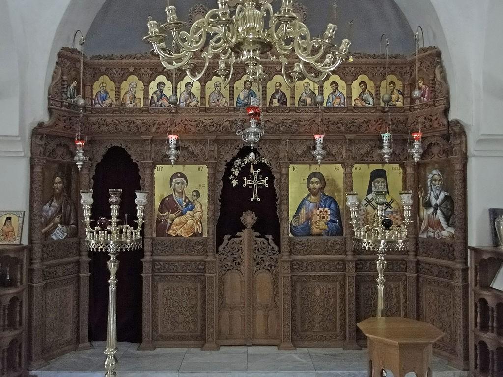 Iconostase of the chapel of the Monastery of Profitis Ilias, Santorini | © Bernard Gagnon/WikiCommons