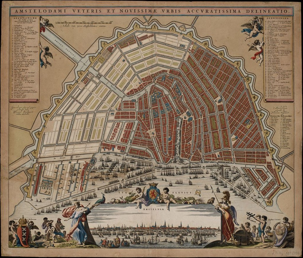 A map of Amsteram's canals from 1662   © Daniel Stalpaert / WikiCommons