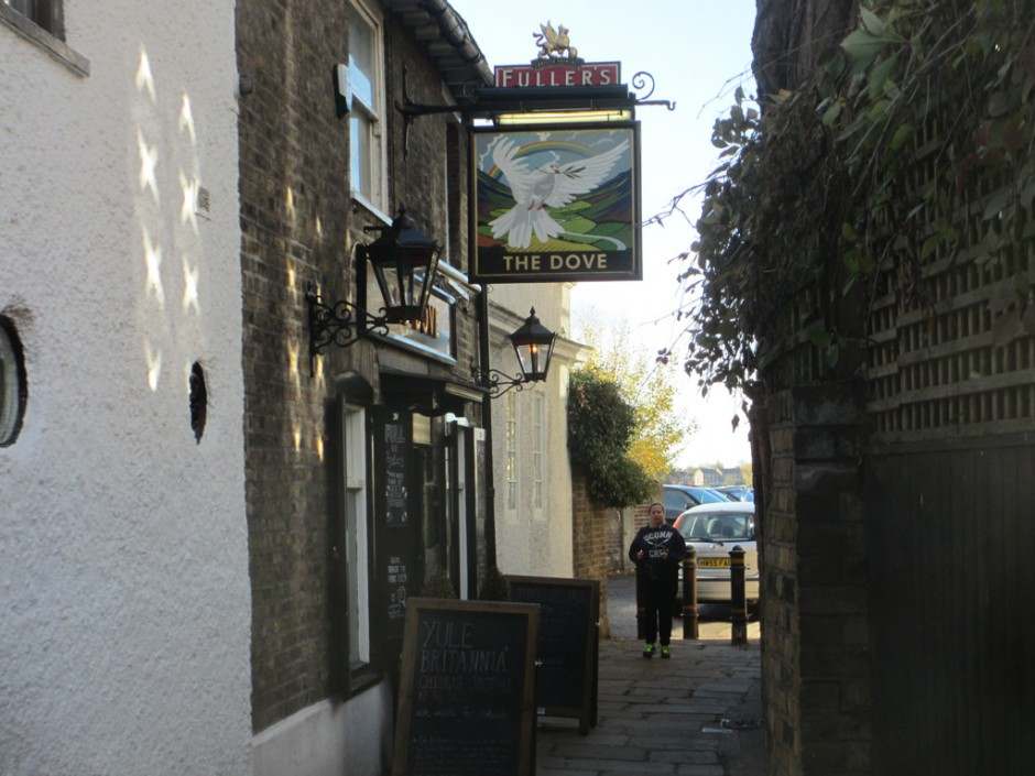 The alley way outside the Dove