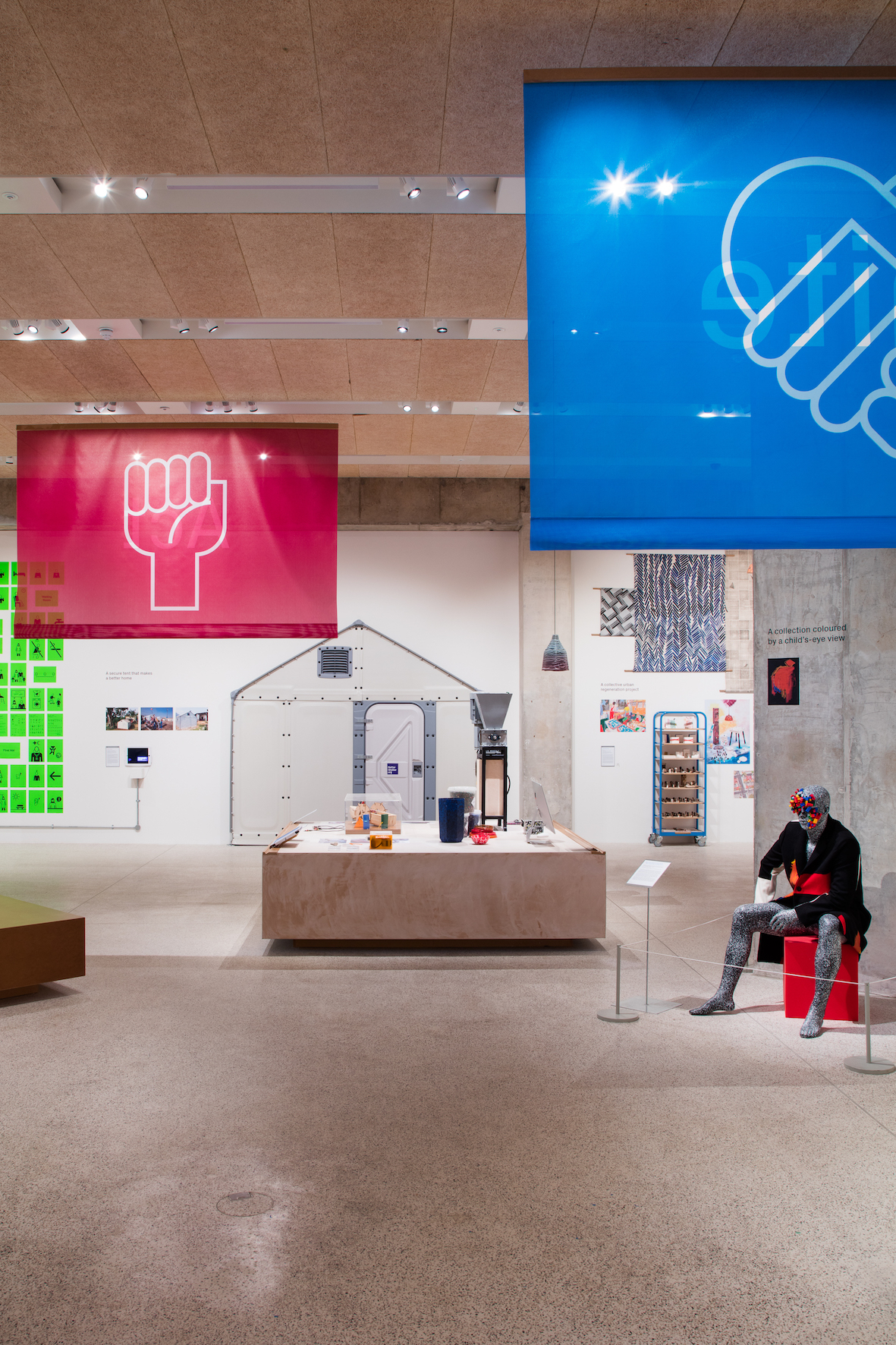 The exhibition is held in the recently renovated Commonwealth Institute building in Kensington, London | © Luke Hayes