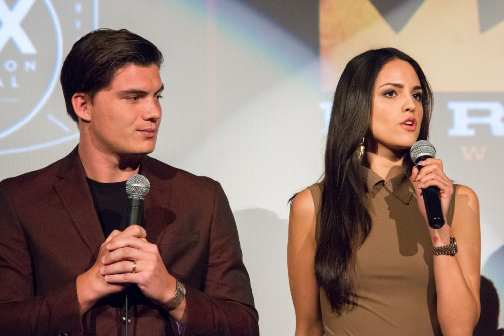 Eiza González, alongside From Dusk Till Dawn co-star Zane Holtz | © Dominick D/Flickr