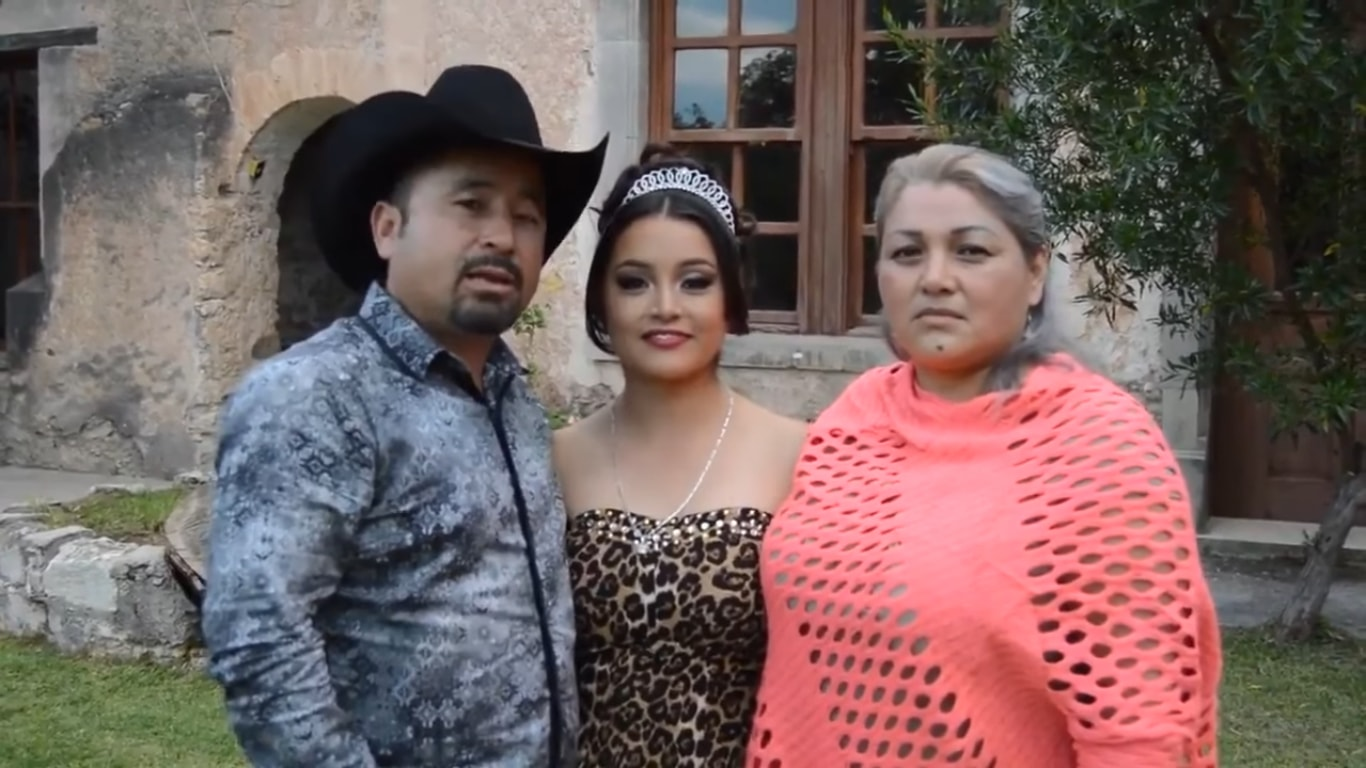 Arguably the most famous quinceañera of recent times, Ruby Ibarra García   © Noticias sin censura/Youtube